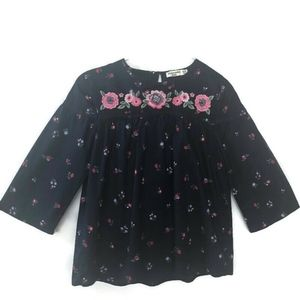 Abercrombie Kids Blue Embroidered Pheasant Tunic